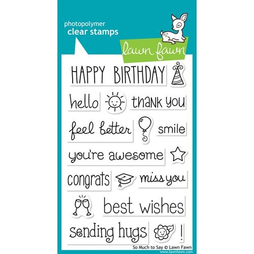 Lawn Fawn - Clear Acrylic Stamps - So Much To Say