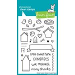 Lawn Fawn - Clear Acrylic Stamps - Home Sweet Home