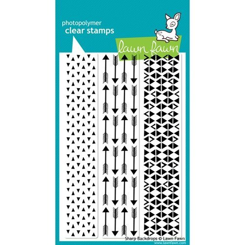 Lawn Fawn - Clear Acrylic Stamps - Sharp Backdrops