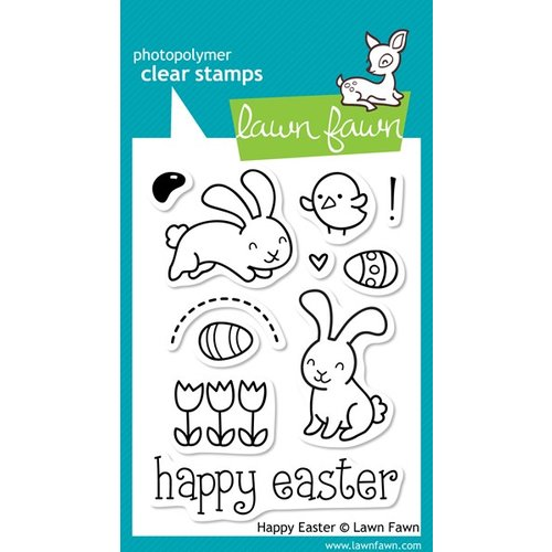 Lawn Fawn - Clear Acrylic Stamps - Happy Easter