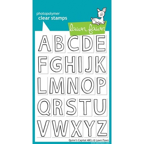 Lawn Fawn - Clear Acrylic Stamps - Quinn's Capital ABCs