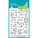 Lawn Fawn - Clear Acrylic Stamps - Critters at the Dog Park