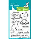 Lawn Fawn - Clear Acrylic Stamps - Happy Trails