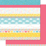 Lawn Fawn - Hello Sunshine Collection - 12 x 12 Double Sided Paper - Claire