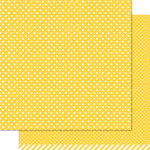 Lawn Fawn - Lets Polka Collection - 12 x 12 Double Sided Paper - Sunflower Polka