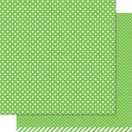 Lawn Fawn - Lets Polka Collection - 12 x 12 Double Sided Paper - Freshly Cut Grass Polka