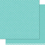 Lawn Fawn - Lets Polka Collection - 12 x 12 Double Sided Paper - Mermaid Polka