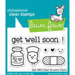 Lawn Fawn - Clear Acrylic Stamps - Get Well Soon