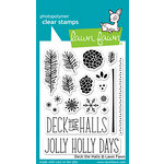 Lawn Fawn - Christmas - Clear Acrylic Stamps - Deck the Halls