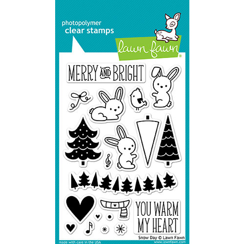 Lawn Fawn - Snow Day Collection - Christmas - Clear Acrylic Stamps