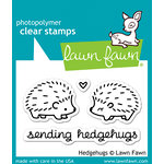 Lawn Fawn - Clear Acrylic Stamps - Hedgehugs