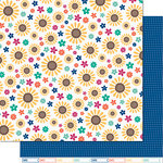 Lawn Fawn - Sweater Weather Collection - 12 x 12 Double Sided Paper - Sunny