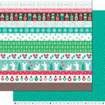Lawn Fawn - Snow Day Collection - Christmas - 12 x 12 Double Sided Paper - Chunky Scarf