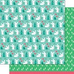 Lawn Fawn - Snow Day Collection - Christmas - 12 x 12 Double Sided Paper - Mittens