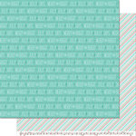 Lawn Fawn - Snow Day Collection - Christmas - 12 x 12 Double Sided Paper - Peacoat