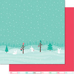 Lawn Fawn - Snow Day Collection - Christmas - 12 x 12 Double Sided Paper - Snow Boots