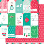 Lawn Fawn - Snow Day Collection - Christmas - 12 x 12 Double Sided Paper - Beanie