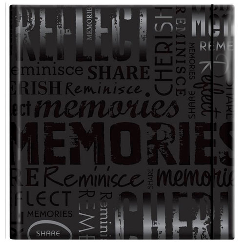 MBI - 12 x 12 Post Bound Album - 20 Top Loading Pages - Memories - Glossy Black