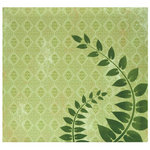 MBI - 12 x 12 Post Bound Album - 20 Top Loading Pages - Flocked Green Fern