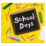 MBI - 12 x 12 Post Bound Album - 20 Top Loading Pages - School Days - Yellow