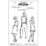 Ranger Ink - Dina Wakley Media - Unmounted Rubber Stamps - Scribbly Fashion Figures