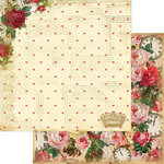 Marion Smith Designs - Mad Tea Party Collection - 12 x 12 Double Sided Paper - Roses R Red