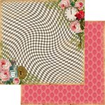 Marion Smith Designs - Mad Tea Party Collection - 12 x 12 Double Sided Paper - Rabbit Hole