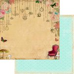 Marion Smith Designs - Mad Tea Party Collection - 12 x 12 Double Sided Paper - Wonderland