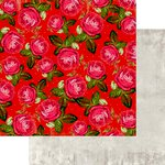 Marion Smith Designs - Motley Collection - 12 x 12 Double Sided Paper - Scarlet