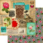 Marion Smith Designs - Motley Collection - 12 x 12 Double Sided Paper - Collage