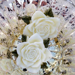 Marion Smith Designs - Junque and Gems Collection - Resin Roses - Cream