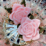 Marion Smith Designs - Junque and Gems Collection - Resin Roses - Pink
