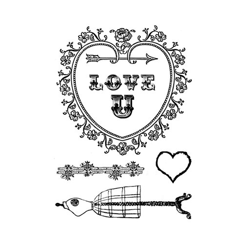 Marion Smith Designs - Clear Acrylic Stamps - Love U