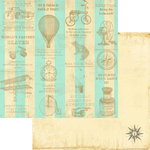 Marion Smith Designs - Never Grow Up Collection - 12 x 12 Double Sided Paper - Treasure Map