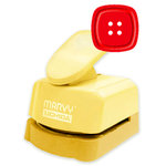 Marvy Uchida - Clever Lever Craft Punch - Silhouette and Embossing - Square Rounded Button  - 1.25 Inch
