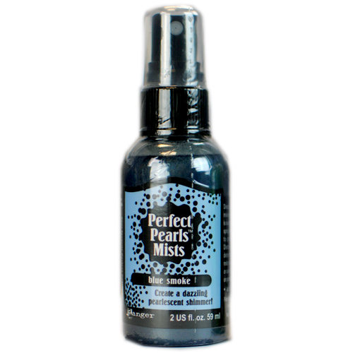 Ranger Ink - Perfect Pearls Mist - 2 Ounce Bottle - Blue Smoke