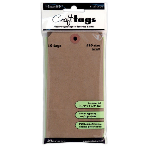 Ranger Ink - Inkssentials - Craft Tags - Size Number 10 - Kraft