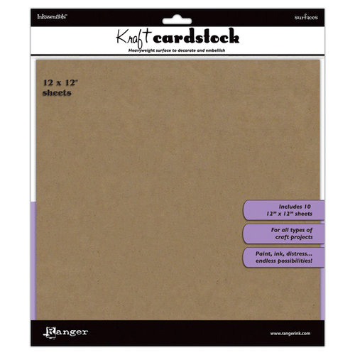 Ranger Ink - Inkssentials - 12 x 12 Cardstock Pack - Kraft