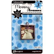 Ranger Ink - Inkssentials - Jewelry - Memory Frames - 1.5 x 1.5 - Black Patina
