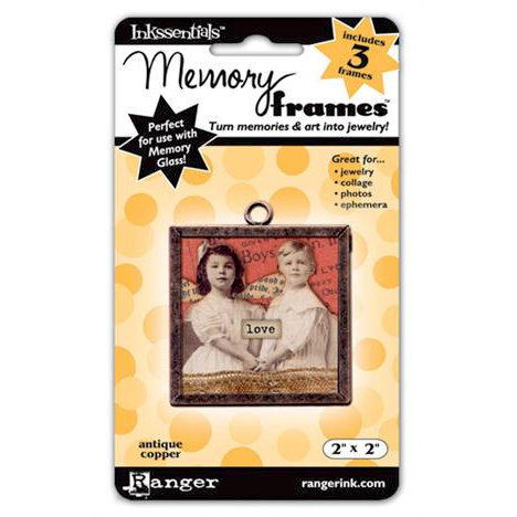 Ranger Ink - Inkssentials - Jewelry - Memory Frames - 2 x 2 - Antique Copper
