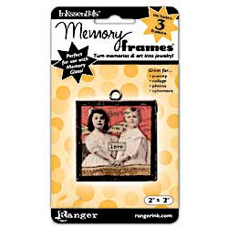 Ranger Ink - Inkssentials - Jewelry - Memory Frames - 2 x 2 - Black Patina