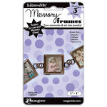 Ranger Ink - Inkssentials - Jewelry - Memory Frames - 1 x 1 - Antique Copper