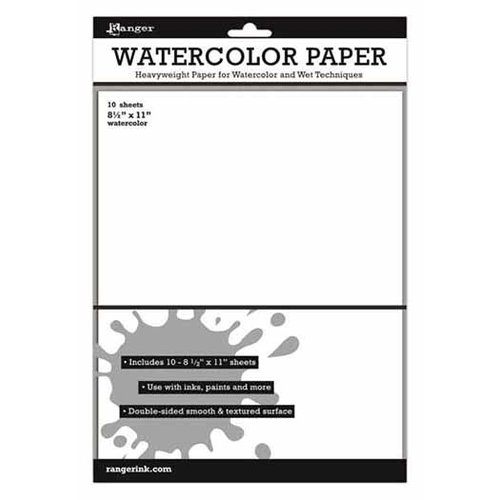 Ranger Ink - Inkssentials - 8.5 x 11 Cardstock Pack - Watercolor