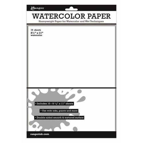 Ranger Ink - Inkssentials - 8.5 x 11 Cardstock Pack - Watercolor