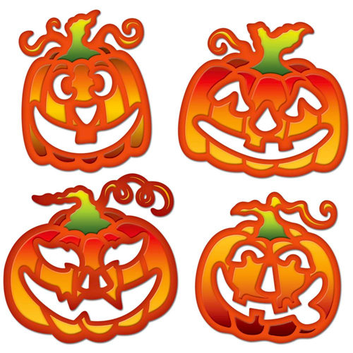 Spellbinders - Shapeabilities Collection - Halloween - Die Cutting and Embossing Templates - Jack O Lanterns