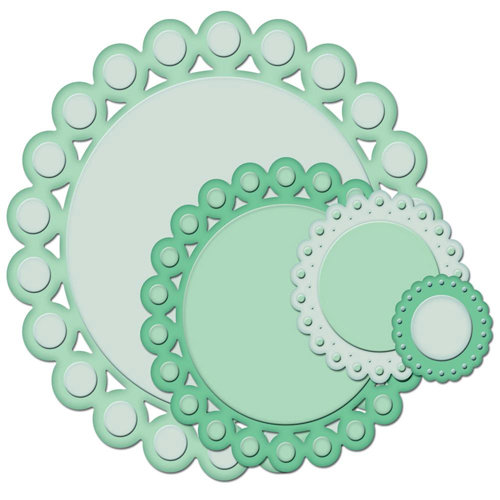 Spellbinders - Nestabilities Collection - Die Cutting and Embossing Templates - Beaded Circles