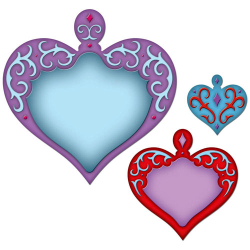 Spellbinders - Shapeabilities Collection - Die Cutting and Embossing Templates - Nested Hearts
