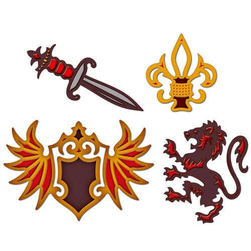 Spellbinders - Shapeabilities Collection - Die Cutting and Embossing Templates - Heraldry