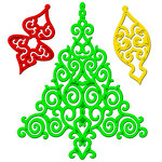 Spellbinders - Shapeabilities Collection - Die Cutting and Embossing Template - 2012 Holiday Tree
