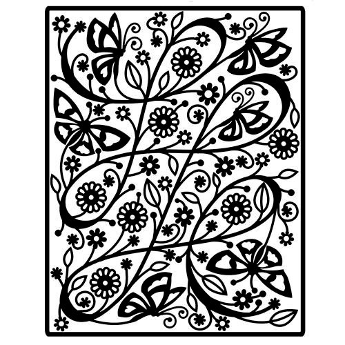 Spellbinders - Impressablilites - Embossing Templates - Butterfly